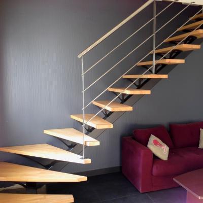 Escaliers sur limon central