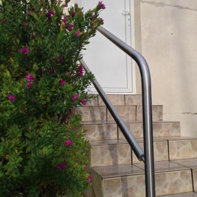Rambarde en inox sur escalier existant