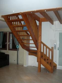 Escaliers avant apr s art m tal concept quimper - Changer rampe escalier bois ...