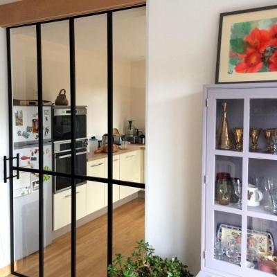 Verrière - Porte coulissante à galandage - Art Métal Concept