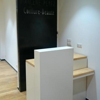 Meuble pour salon de coiffure - Art Métal Concept