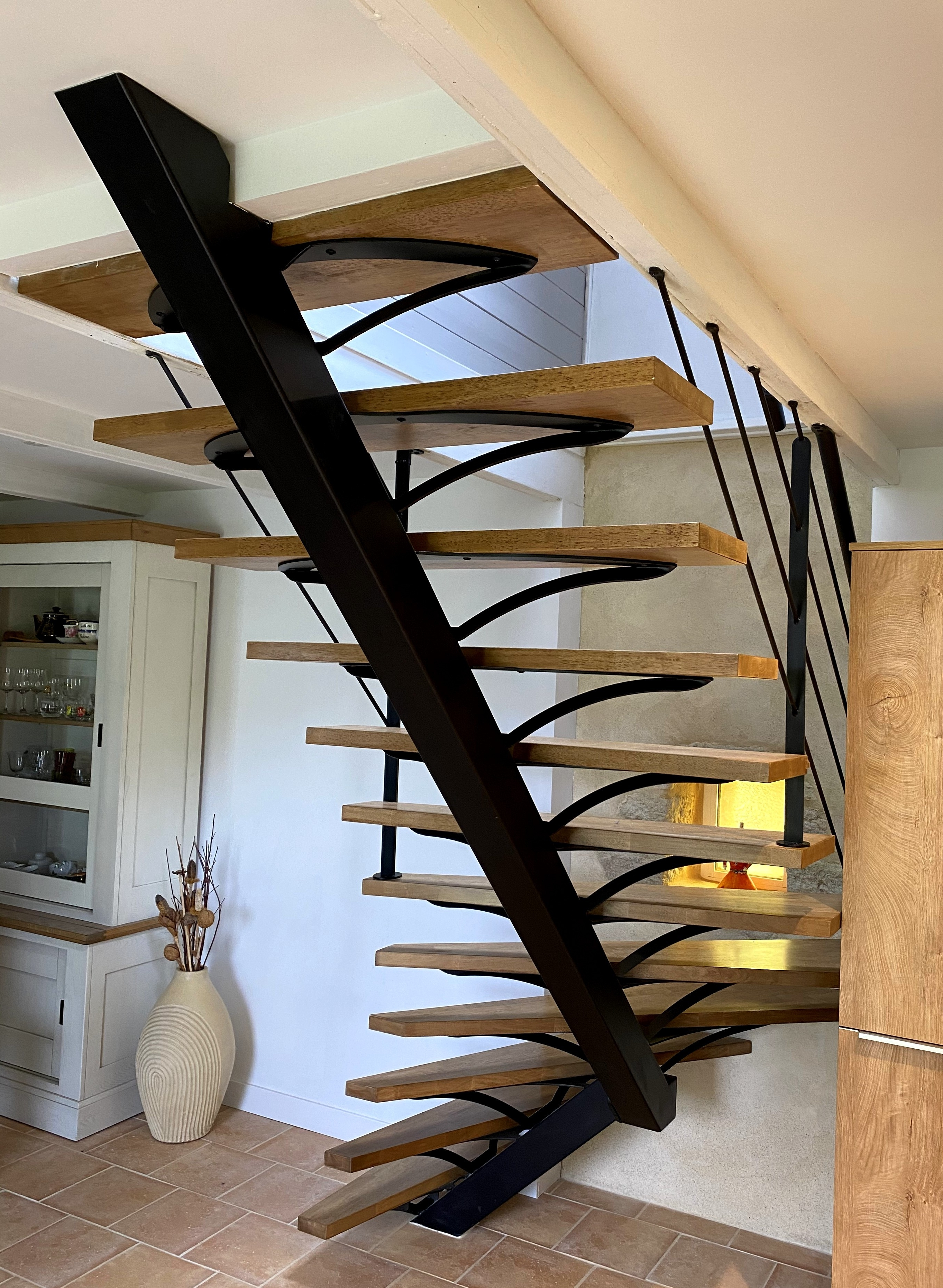 Escalier decoration interieure contemporaine art metal concept quimper fouesnant 3
