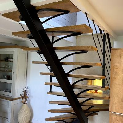 Escalier decoration interieure contemporaine art metal concept quimper fouesnant 3