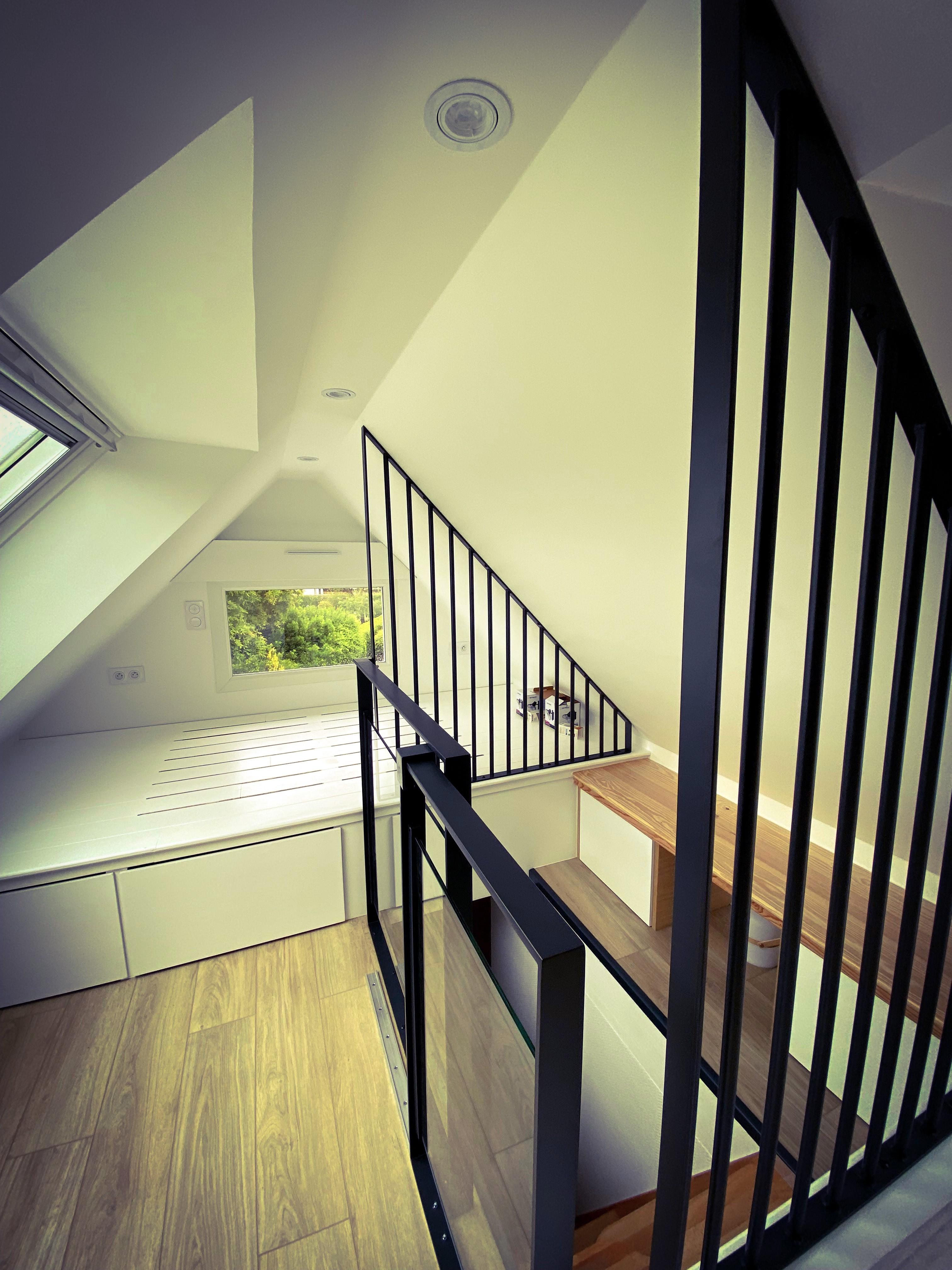 Cloison intérieure en barreaudage vertical - Art Métal Concept