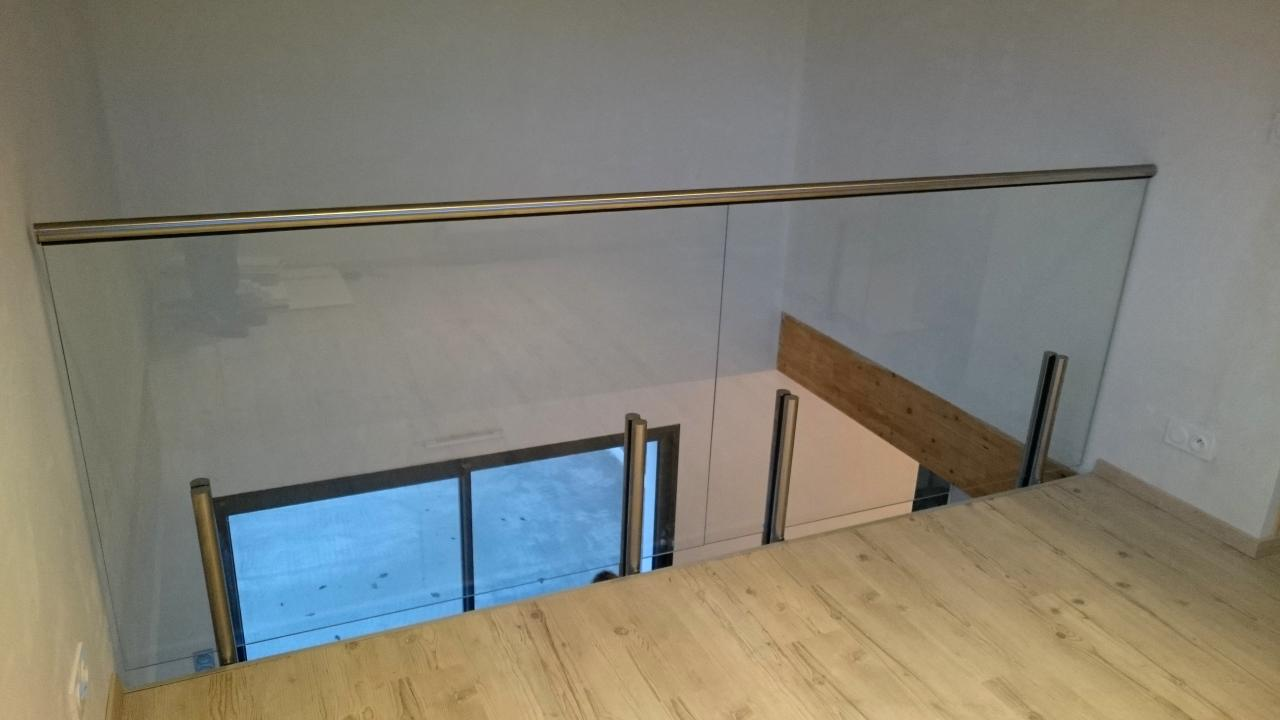 Garde-corps en verre - Art Métal Concept