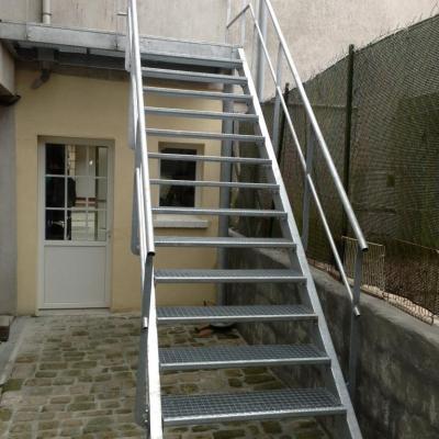 Escalier métallique industriel - Art Métal Concept Quimper