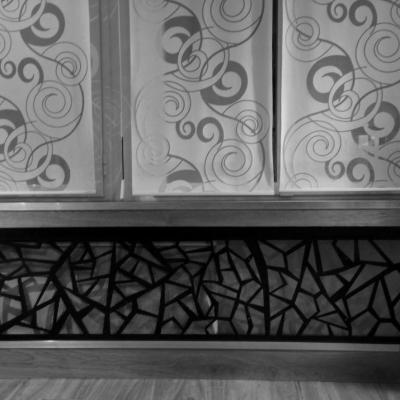 Habillage décoratif en tôle découpée au laser - Art Métal Concept