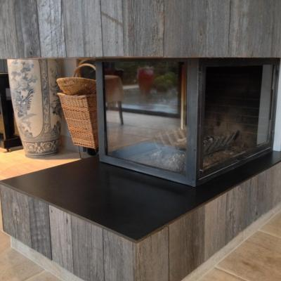 Habillage de cheminée - Art Métal Concept