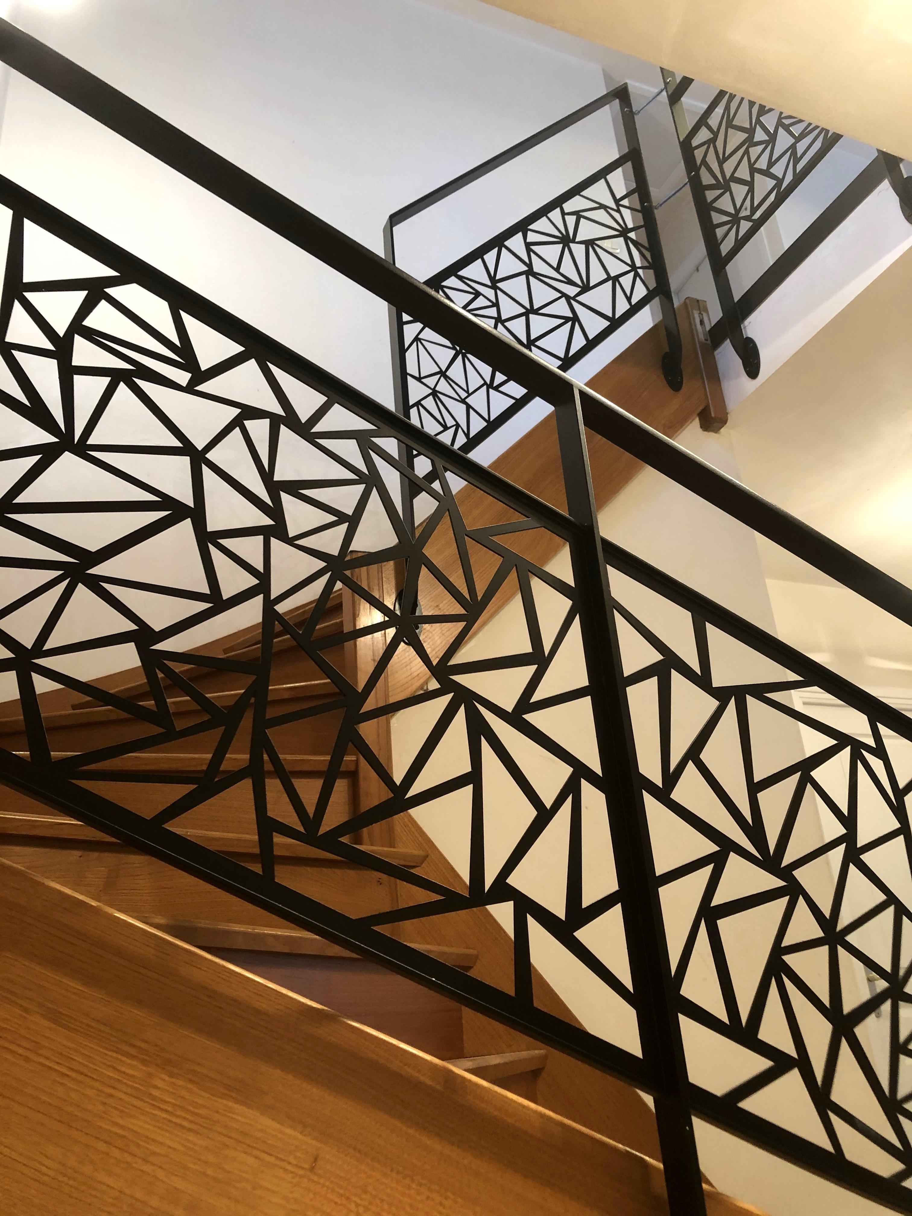 Renovation escalier bois garde corps contemporain art metal concept quimper bigouden 1