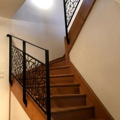 Renovation escalier bois garde corps contemporain art metal concept quimper bigouden 4 1