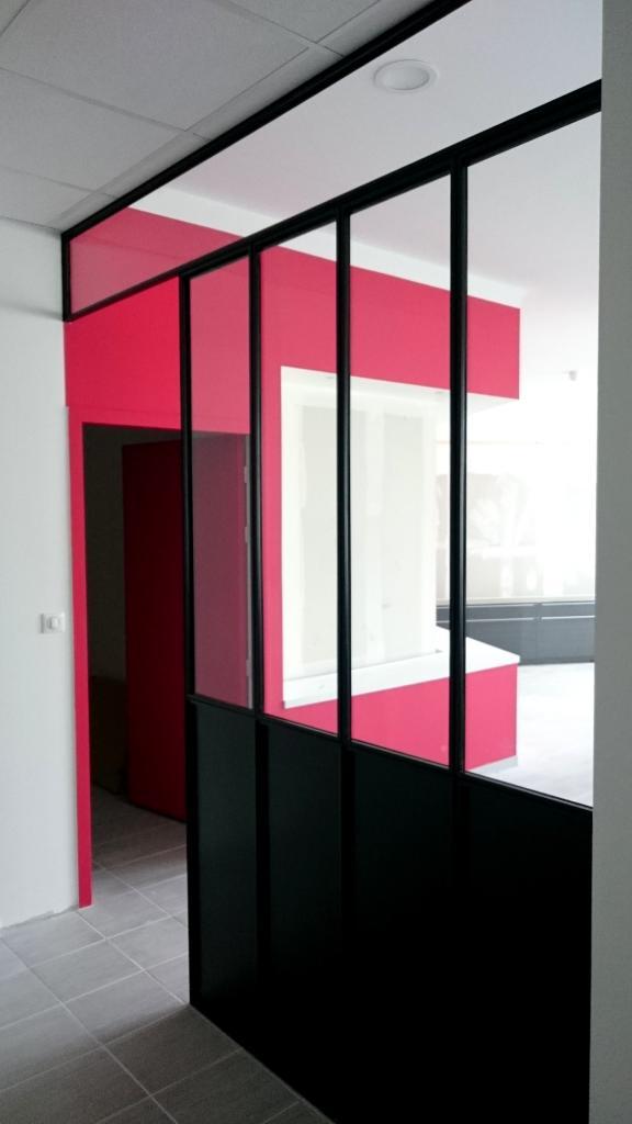 Verrière métallique style atelier d'artiste - Art Métal Concept