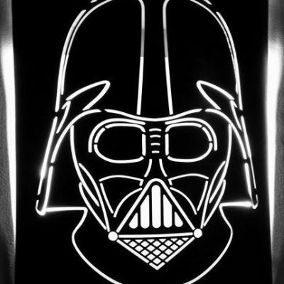 Applique murale metallique star wars art metal concept quimper