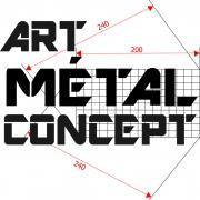 Art metal concept logo