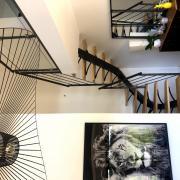 Decoration escalier design architecte loft art metal concept quimper 1
