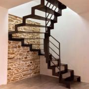 Escalier metallique cremaillere art metal concept quimper 1